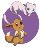 Eevee and Mew