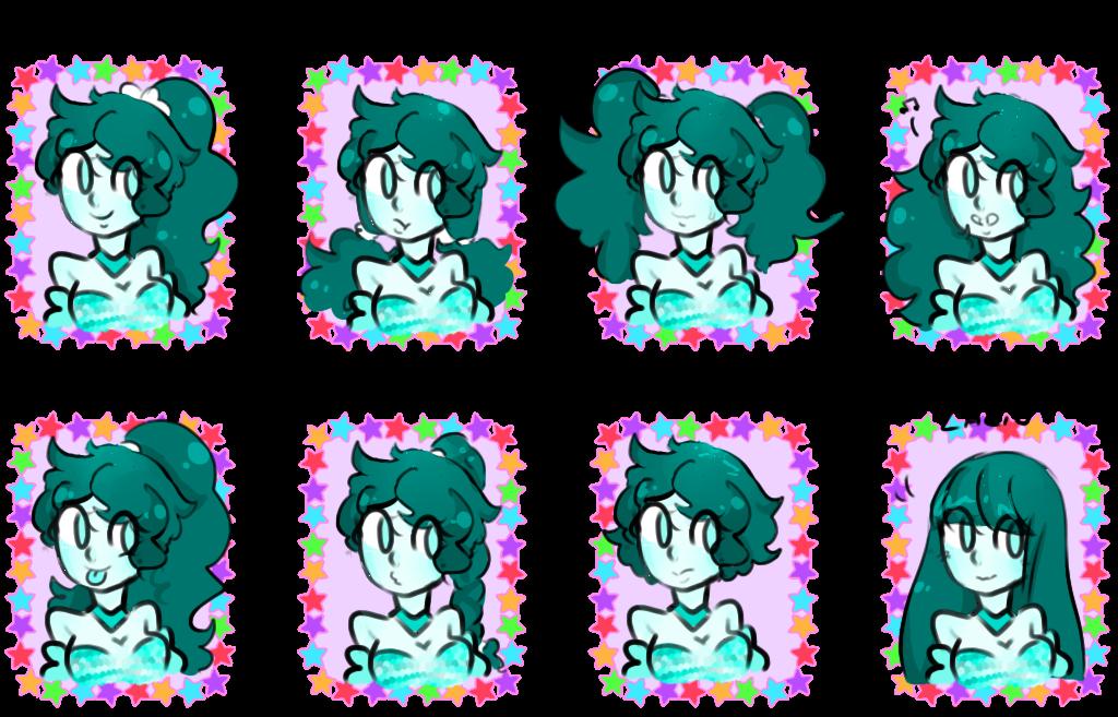 Simple y con estilo peinados anime Galería de ideas de coloración del cabello - TOU - Meme - Peinados by ChicaAnime-n1 on DeviantArt