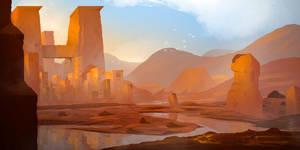 Ruin and sun