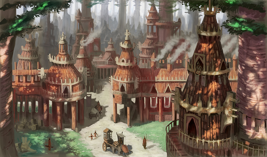 Forest Village by MarkBulahao