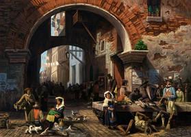 Roman Fish Market: Arc of Octavius Copy by MarkBulahao