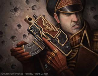 Commissarial Bolt Pistol by MarkBulahao