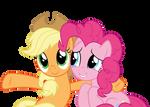 AppleJack and Pinkie Pie - Vector