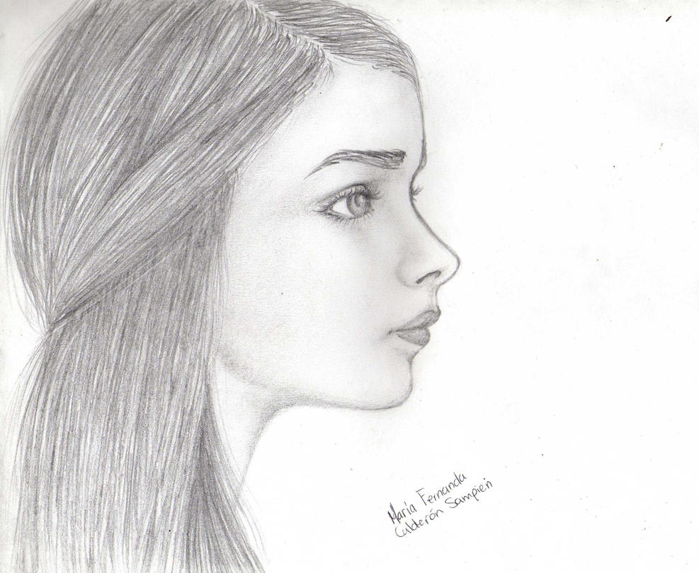 Girl Face Profile Draw...