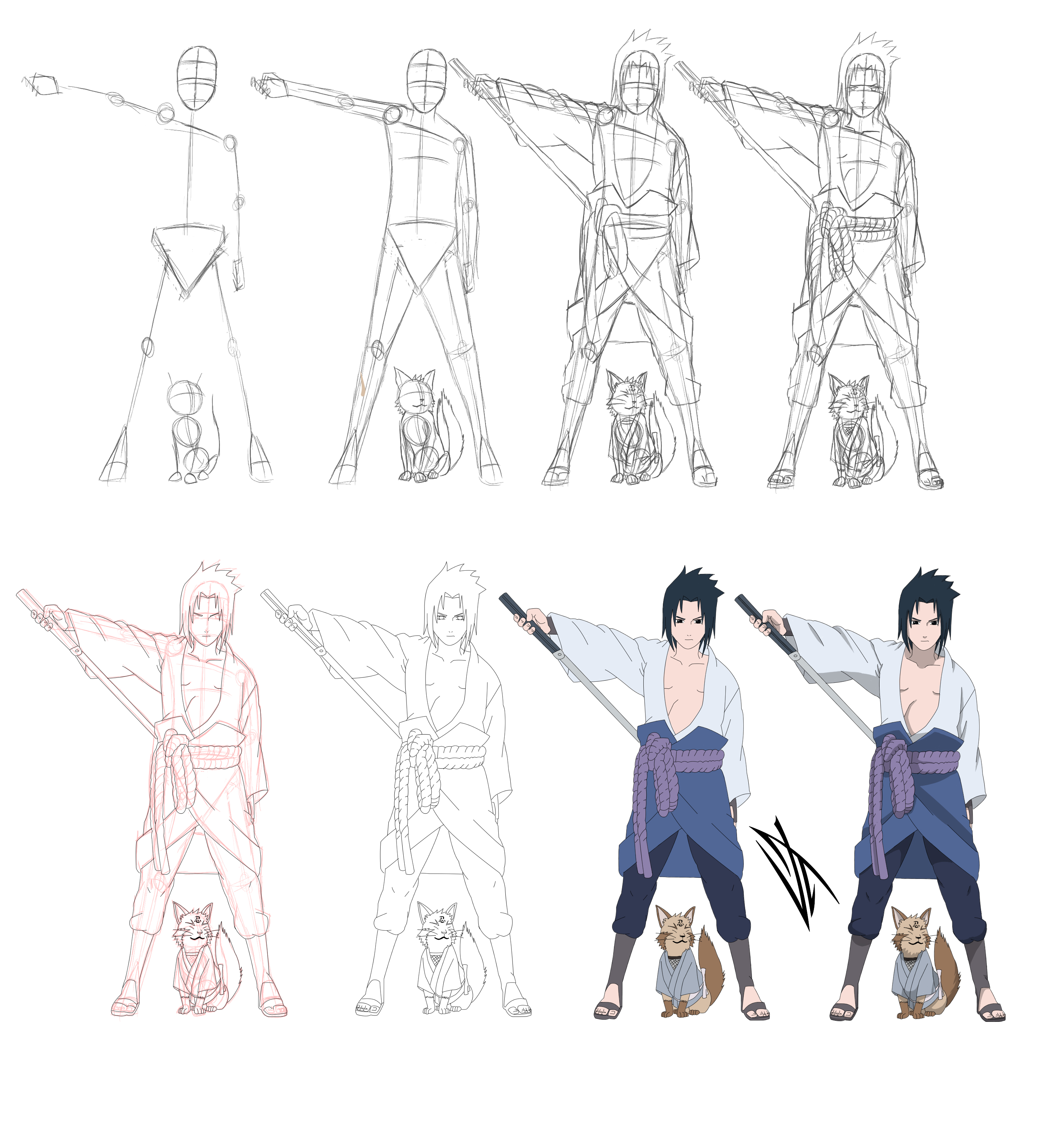 Step by step: Uchiha Sasuke by Johnny-Wolf on DeviantArt