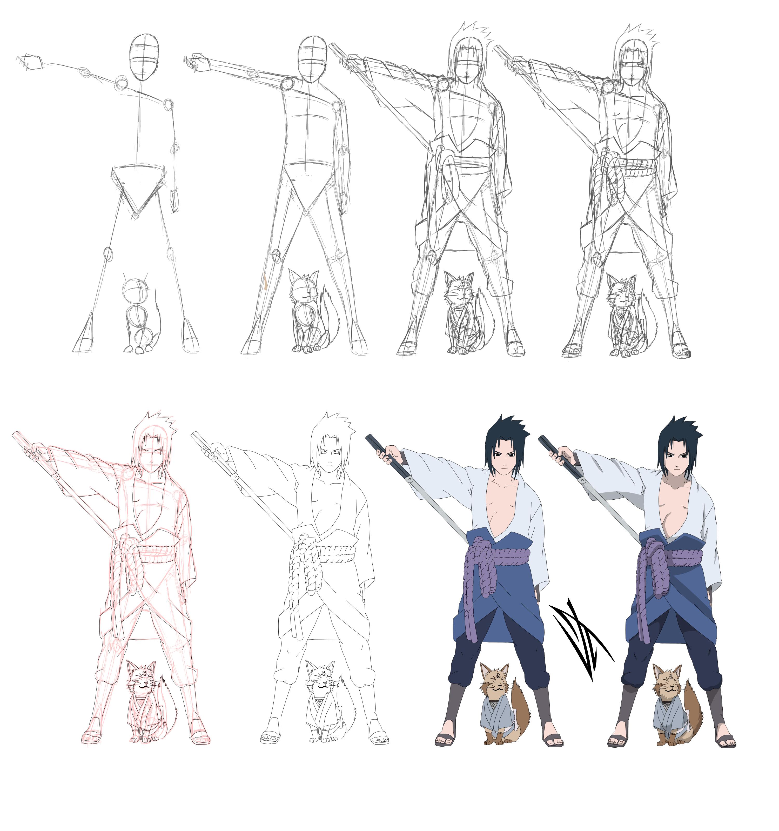 How To Draw Chibi Miku Step By Step: Uchiha Sasuke By Johnnywolf Tutorial:  Angry