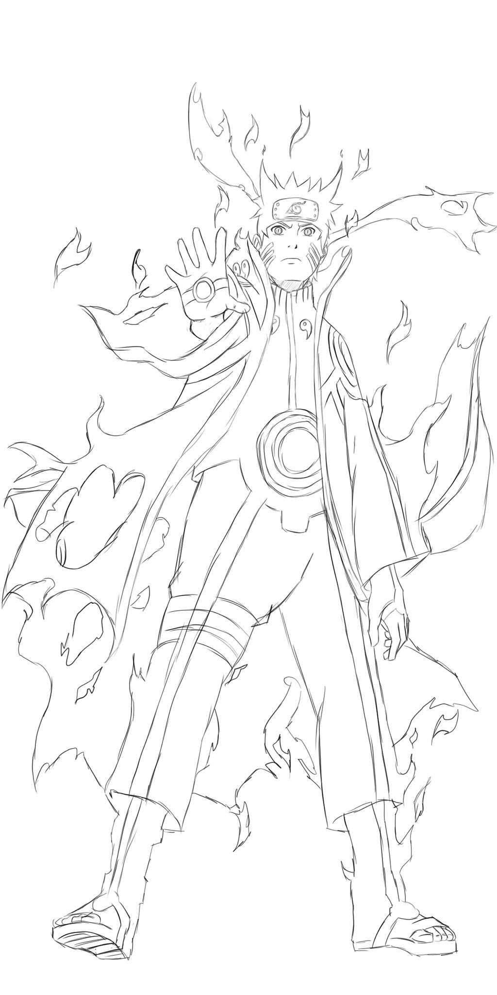 Six Paths Madara Drawing Naruto Sage of Six Paths Mode