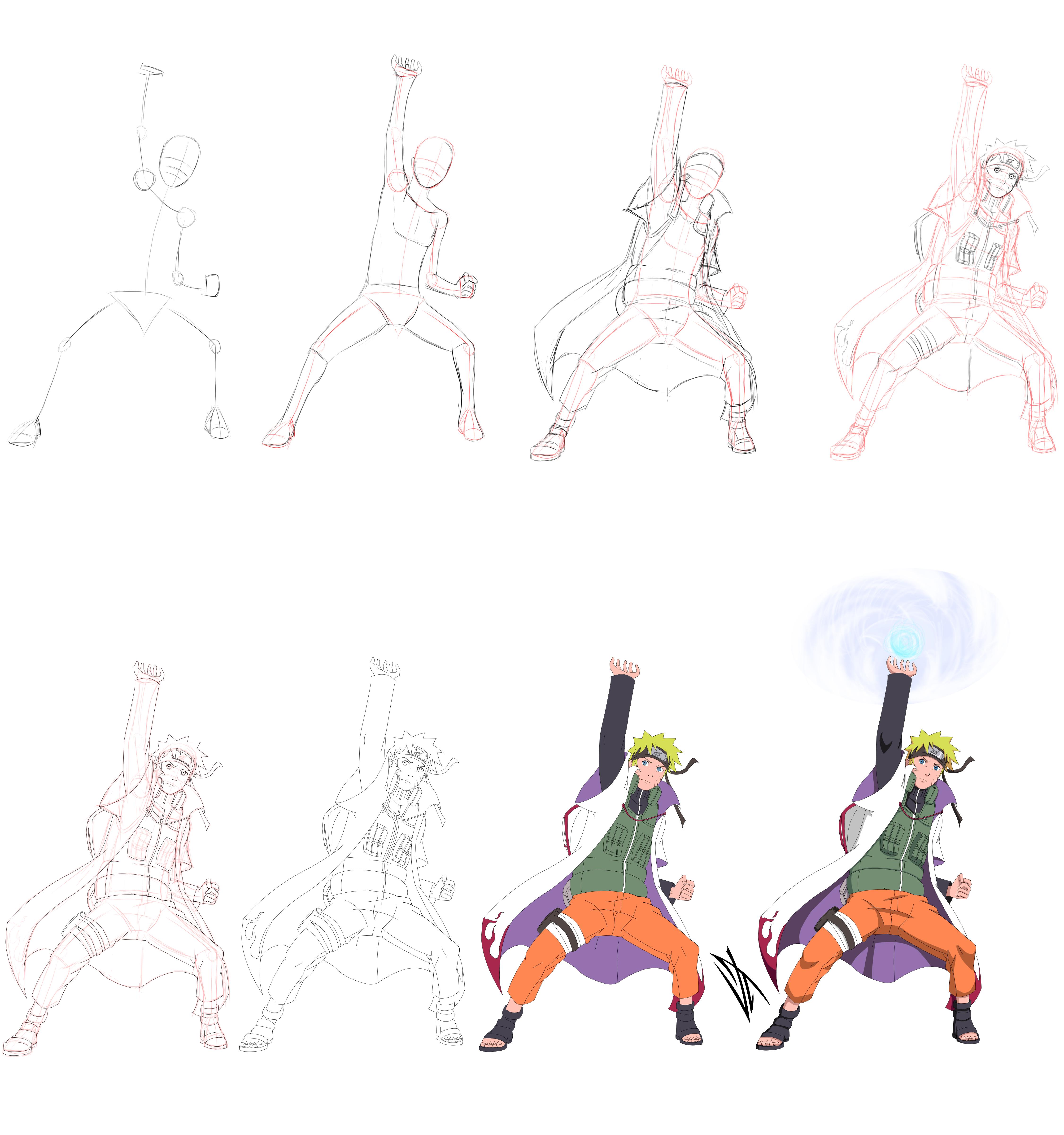 Step by Step Kage Naruto Uzumaki by JohnnyWolf on DeviantArt