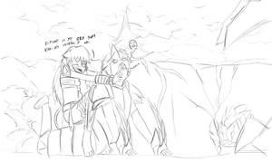 Rengar-chan on hunt sketch