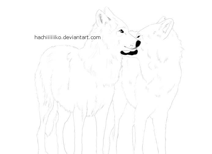 Wolf Mates Lineart #1 ...