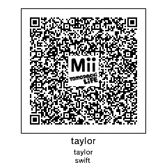 QR Codes on Tomodachi-... Taylor Swift Codes