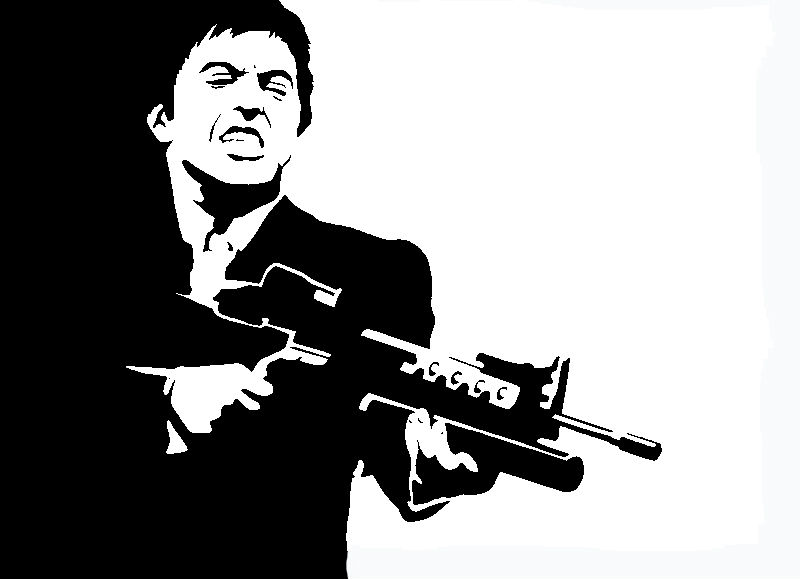 Scarface Stencil By Miztermaz On Deviantart