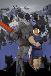 Wolf and Felina Feral Surrounded