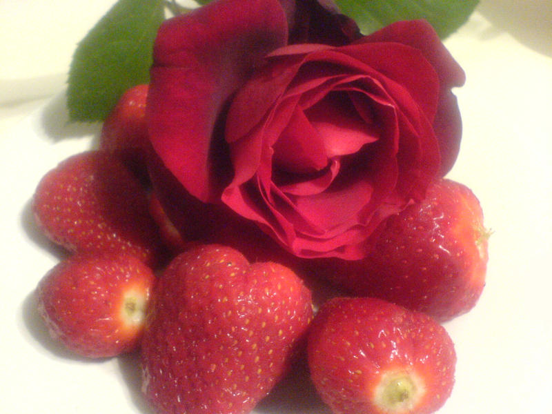 Image result for strawberries and roses
