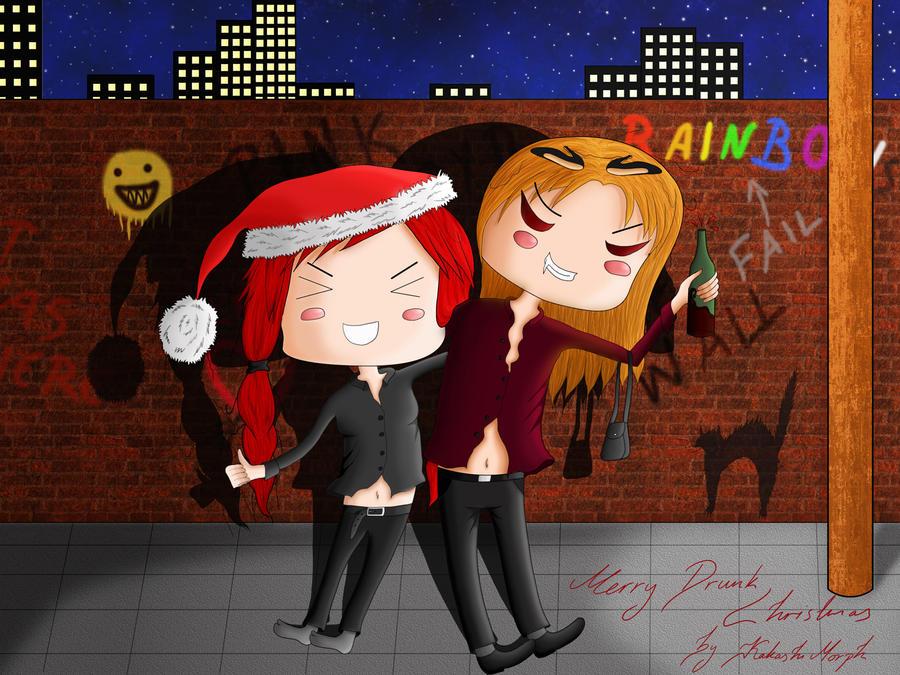 Merry Drunk Christmas by KakashiMorph