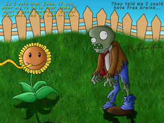There's a zombie on your lawn by KakashiMorph