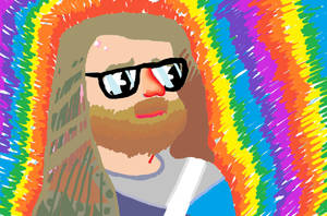 Colorful bearded dude - MS PAINT