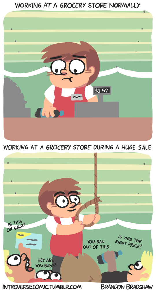 Working at a Grocery Store by BrandonPewPew