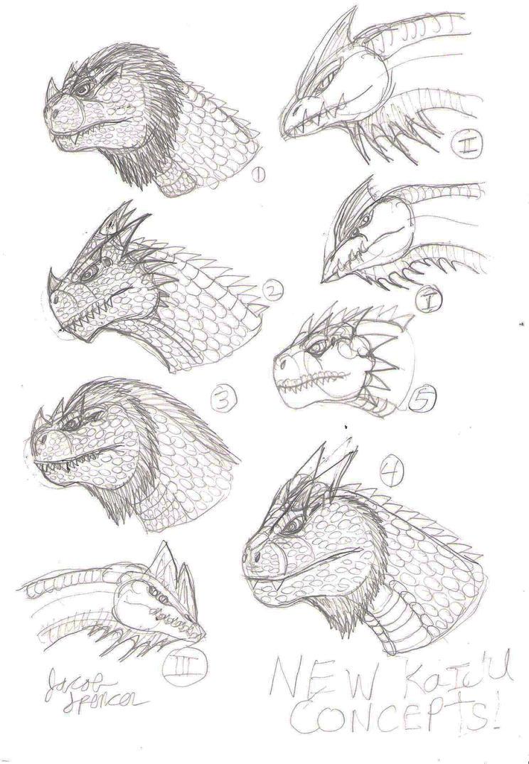 New Kaiju Concepts!!! by JacobMatthewSpencer
