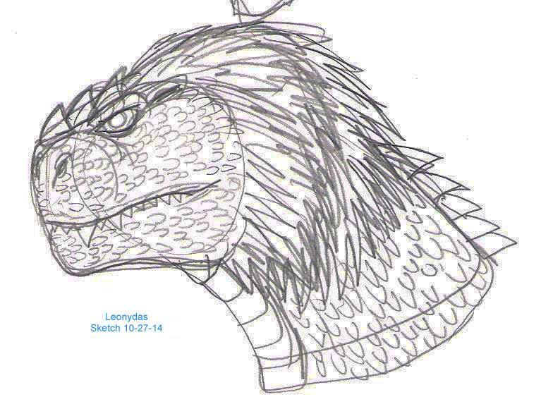 Leonydas Sketch 10-27-14 by JacobMatthewSpencer