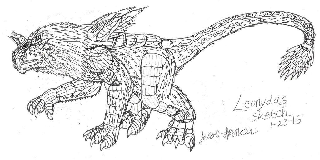 Leonydas Sketch 1-23-15 001 by JacobMatthewSpencer