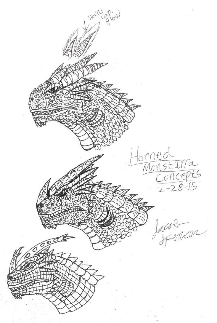 Horned Monsturra Concept 2-28-15 by BehemothMaker