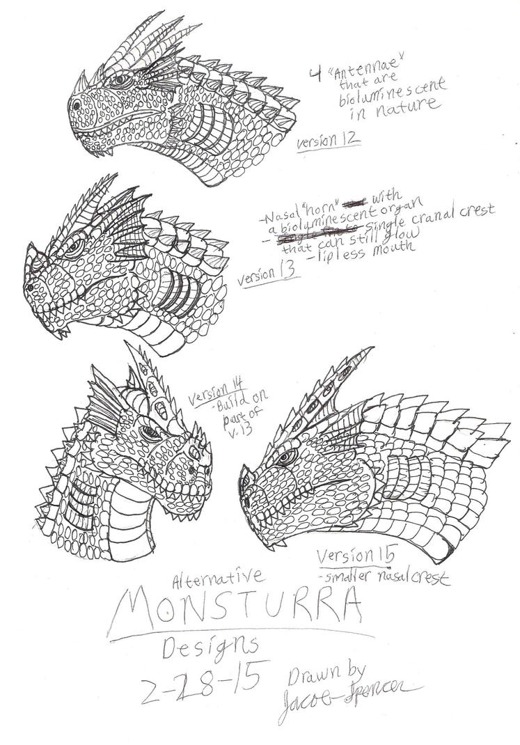 Alternative Monsturra Designs 2-28-15 by BehemothMaker