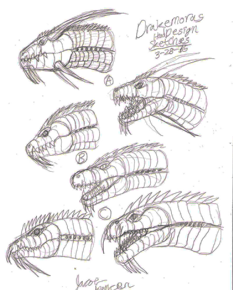 Drakemoras Head Designs 3-28-15 by BehemothMaker