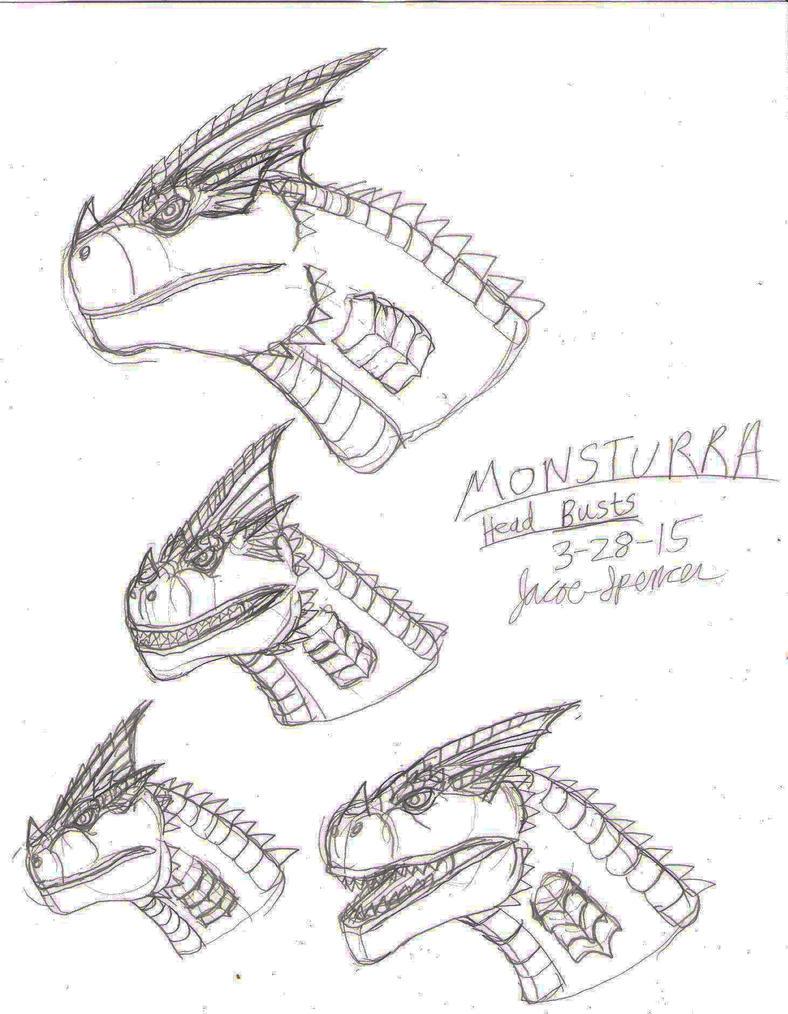 Monsturra Head Busts 3-28-15 by BehemothMaker