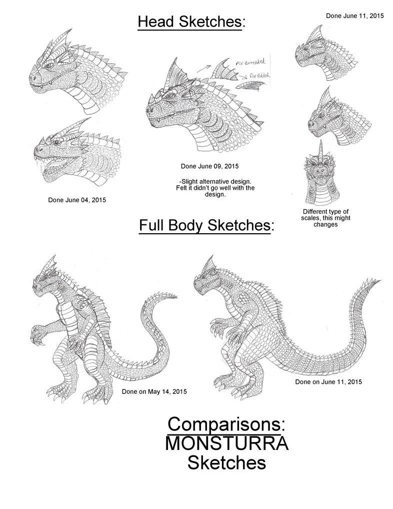 Comparison-MONSTURRA sketches by BehemothMaker