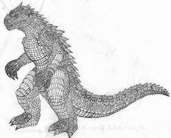Monsturra Body Sketch 8-23-16 by JacobSpencerKaiju79