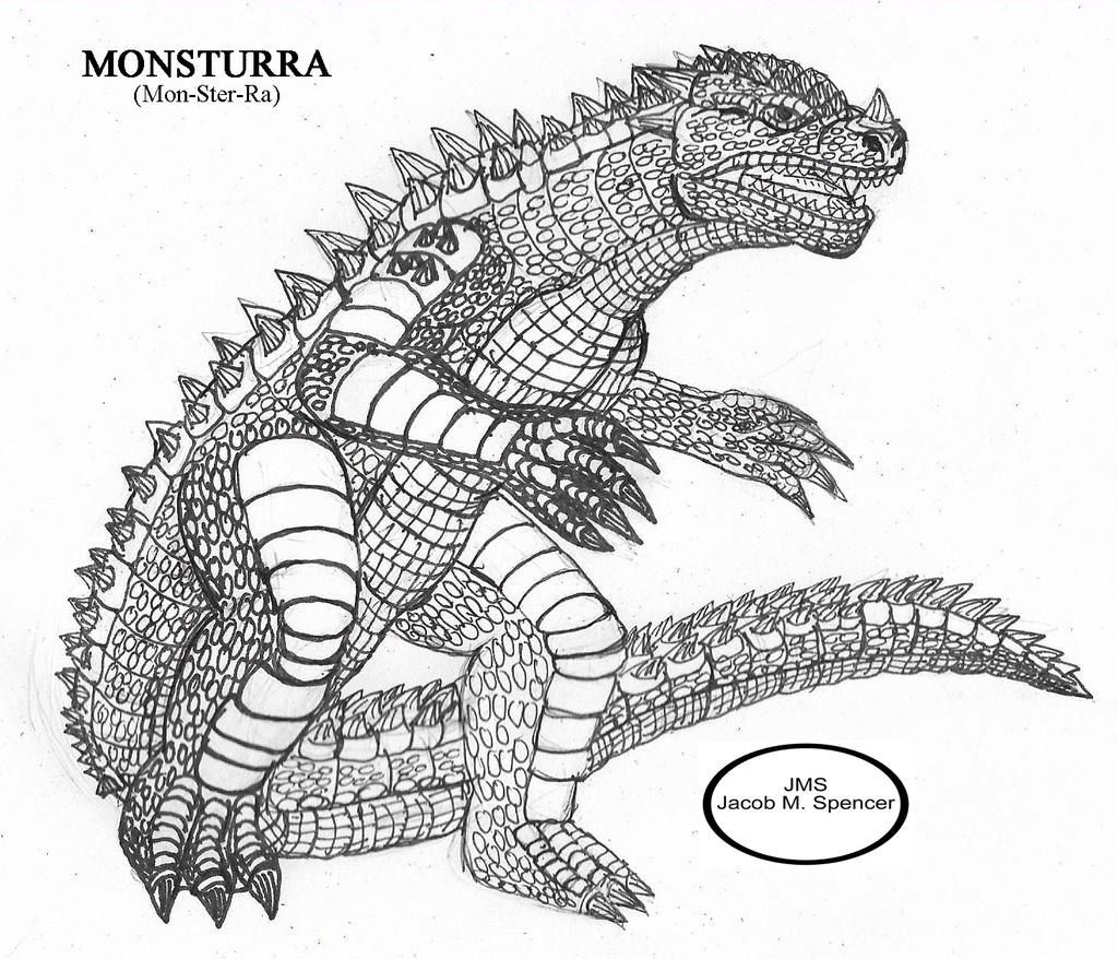 Monsturra Sketch-August 25,2016 by JacobSpencerKaiju79