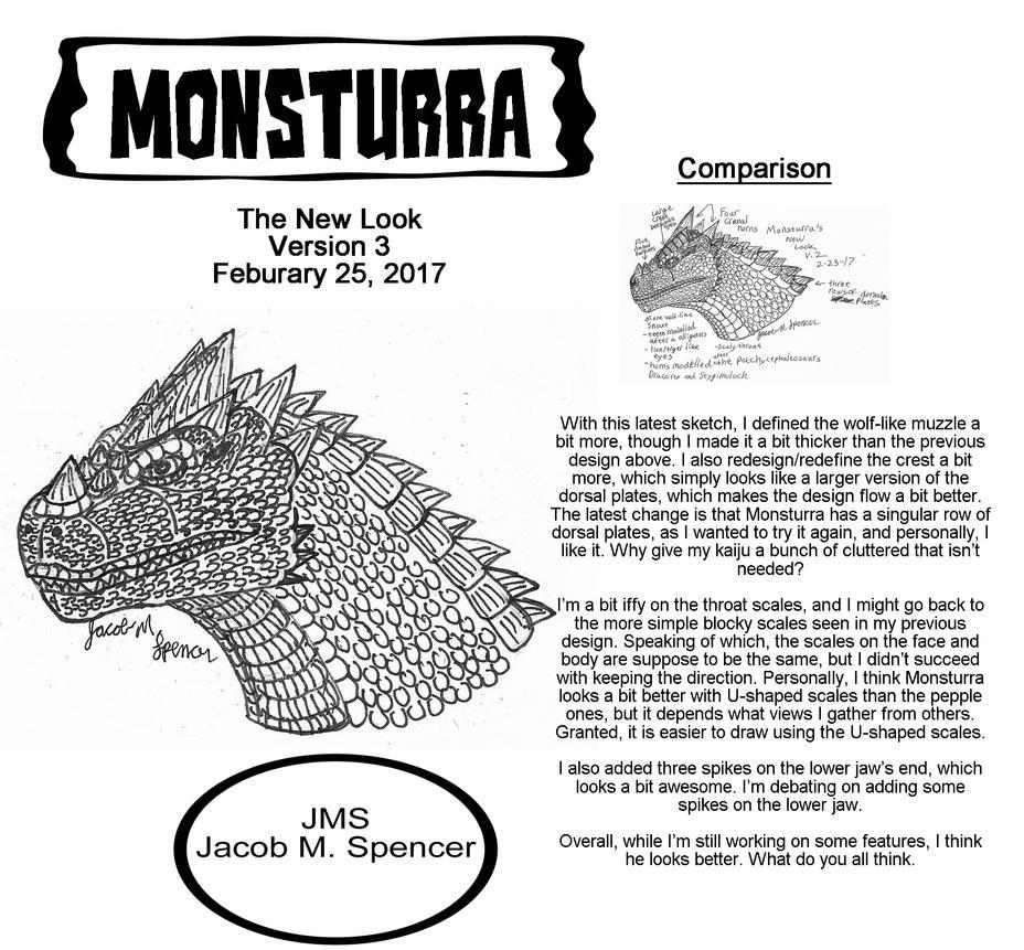 MONSTURRA's New Look v3-Feburary 25, 2017 by JacobS-KaijuCreator