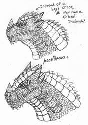 Titanagon Head Sketches-April 12, 2019 by JacobSpencerKaiju79