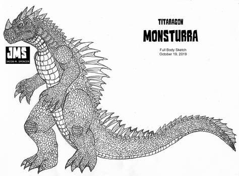 Titaragon MONSTURRA-Inked Sketch-10-19-2019