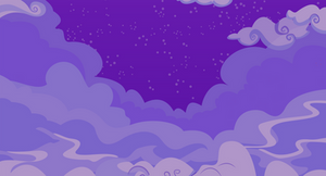 Cloudy Night Sky Background by JodeLR