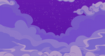 Cloudy Night Sky Background