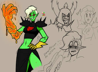 Villain Sketch lord Dominator by JodeLR
