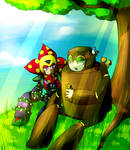 Megaman-woodman and plantman
