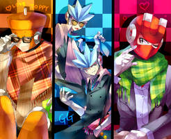 Hipster robot masters by Nyaph