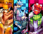 Hipster robot masters