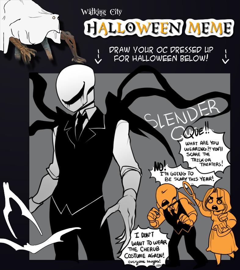 WALKING CITY OCT : Halloween meme! by Nyaph