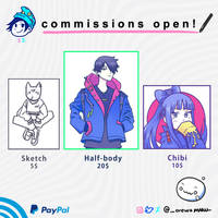 [OPEN] COMMISSIONS INFO by orewamaru