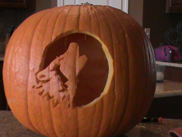 Wolf pumpkin carving by breyercollector on deviantart