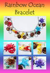 Rainbow Ocean Charm Bracelet