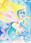 princess_celestia_water_colour by AzuraInalis