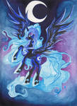 nightmare_moon_water_colour by AzuraInalis