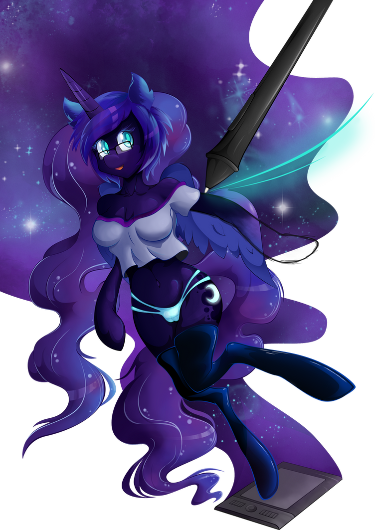 Drawing the Moon by artist-apprentice587
