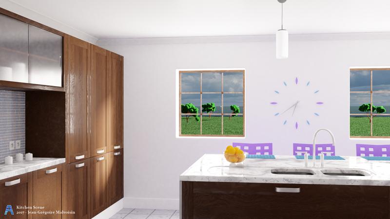Kitchen Scene by akikun-cgi