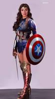 Wonder Woman - Captain America ( mask below )